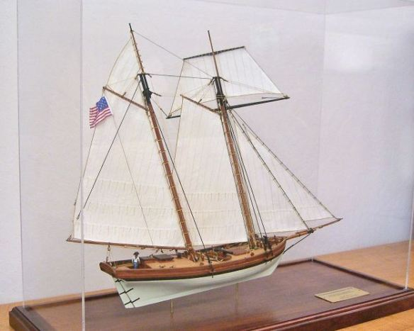 This is my model of the Private Armed Schooner Lively, 1813. It is a scratch-build based on kit plans from the old North River Scale Model company. Maybe I'll enter it finally this year.