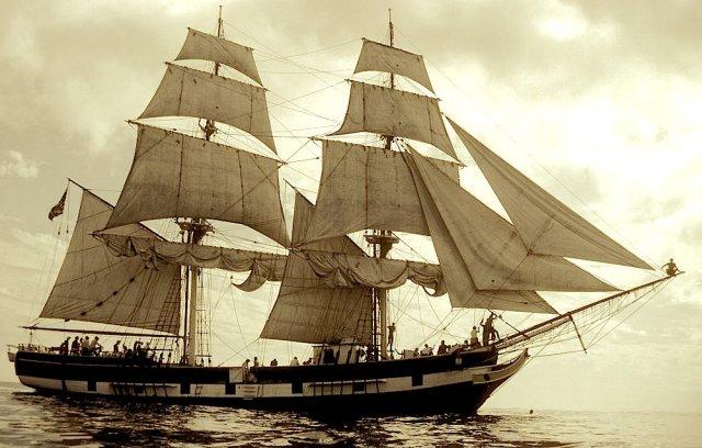 Modern day representation of the Brig Pilgrim.