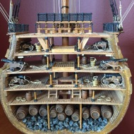HMS Victory Cross Section by Tom Shea