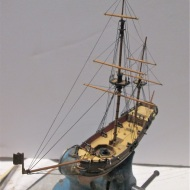 Mini Bomb Ketch model by Paul Reck