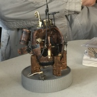 Turtle, America's First Submarine, resin (multimedia) model by Tom Shea