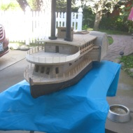 Timberclad Civil War gunboat Peosta by Paul Reck and Tom Shea